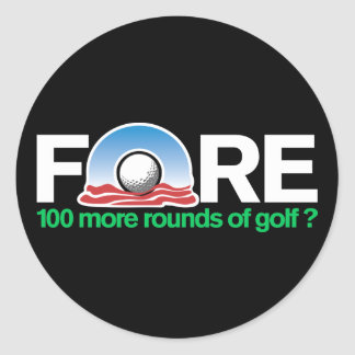 Fore 100 more rounds of Obama Golf anyone? Round Sticker