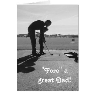 """Fore a Great Dad"" Golf Father's Day Photo Card"
