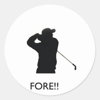 Fore Classic Round Sticker