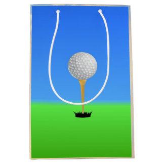 Fore! Golf Ball on Tee Medium Gift Bag