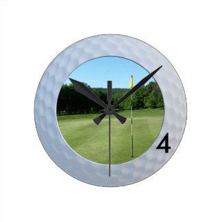 Fore Golfer's Fairway Round Wall Clock