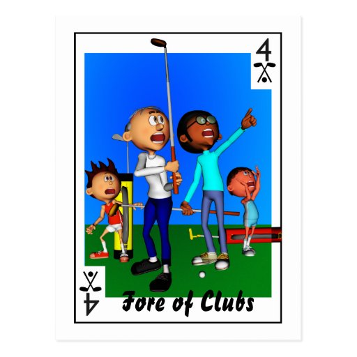 Fore of Clubs Post Card