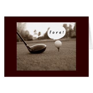 """""""FORE"""" OR DID YOU SAY """"40"""" BIRTHDAY CARD"""