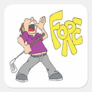 Fore Square Sticker