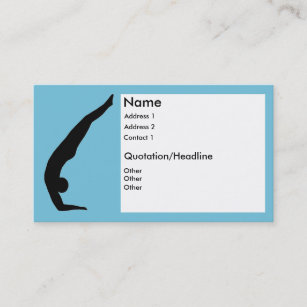 Silhouette yoga business cards profile cards zazzle ca forearm stand yoga business cards reheart Image collections