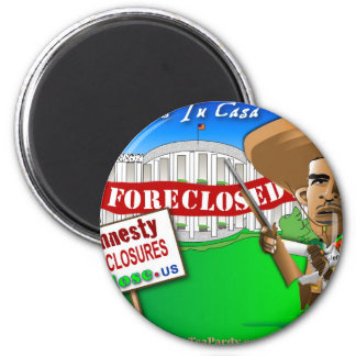 Foreclose United States White House 2 Inch Round Magnet