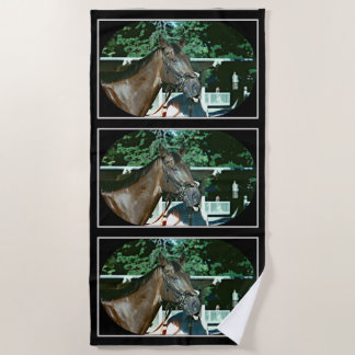 Forego Racehorse 1977 Beach Towel