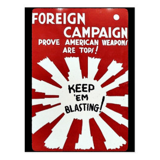 Foreign Campaign Prove American Weapons Are Tops Postcard