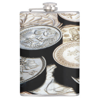 FOREIGN COINS HIP FLASK