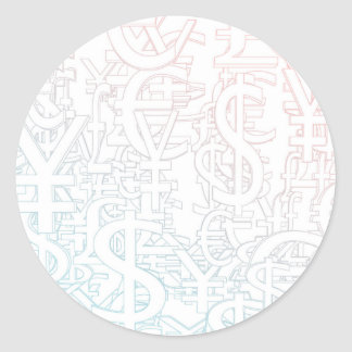 Foreign Currency Exchange Stock Market as Concept Classic Round Sticker