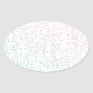 Foreign Currency Exchange Stock Market as Concept Oval Sticker