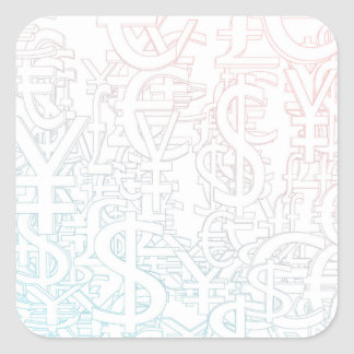 Foreign Currency Exchange Stock Market as Concept Square Sticker