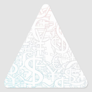 Foreign Currency Exchange Stock Market as Concept Triangle Sticker