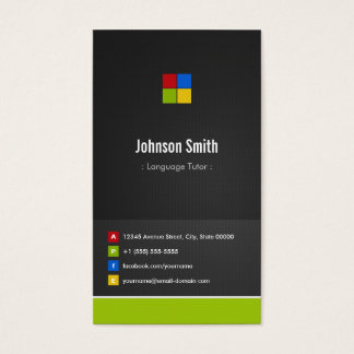 Foreign Language Tutor - Premium Creative Colorful Business Card