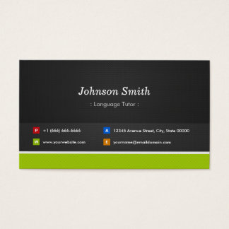 Foreign Language Tutor - Professional and Premium Business Card