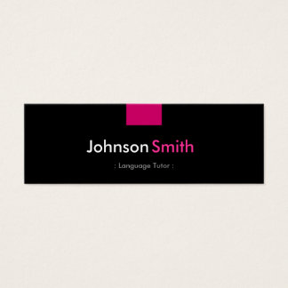 Foreign Language Tutor - Rose Pink Compact Mini Business Card