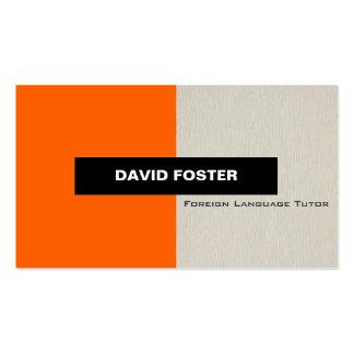 Foreign Language Tutor - Simple Elegant Stylish Business Card