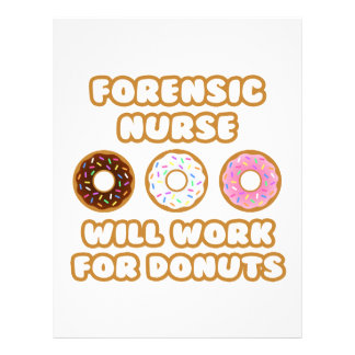 Forensic Nurse Will Work For Donuts Customized Letterhead