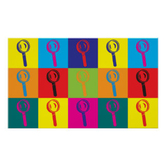 Forensic Science Pop Art Poster