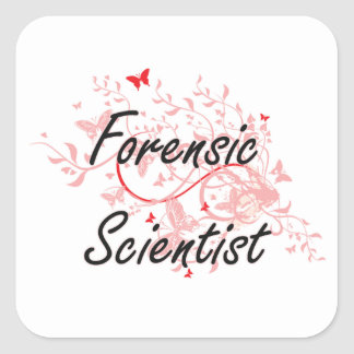 Forensic Scientist Artistic Job Design with Butter Square Sticker