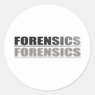 FORENSICS CLASSIC ROUND STICKER