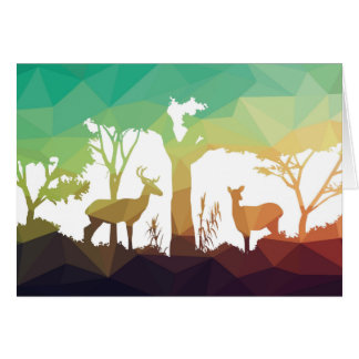 Forest abstraction greeting card
