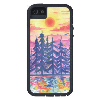 Forest and lake at dusk, iPhone5/5s iPhone 5 Case