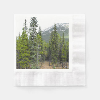 Forest and Mountain Scene Napkin Disposable Napkins