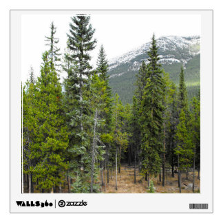 Forest and Mountain Scene Wall Decal