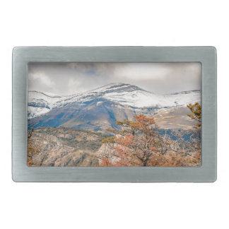 Forest and Snowy Mountains, Patagonia, Argentina Belt Buckle