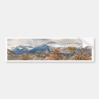 Forest and Snowy Mountains, Patagonia, Argentina Bumper Sticker