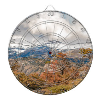 Forest and Snowy Mountains, Patagonia, Argentina Dartboard