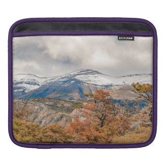 Forest and Snowy Mountains, Patagonia, Argentina iPad Sleeve