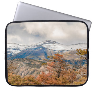 Forest and Snowy Mountains, Patagonia, Argentina Laptop Computer Sleeves