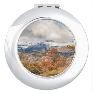 Forest and Snowy Mountains, Patagonia, Argentina Makeup Mirror
