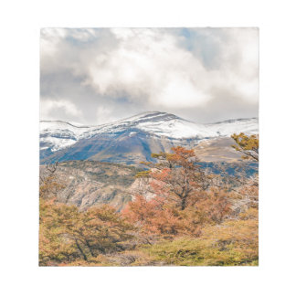 Forest and Snowy Mountains, Patagonia, Argentina Notepad