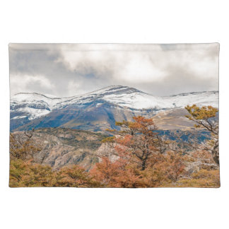 Forest and Snowy Mountains, Patagonia, Argentina Placemat