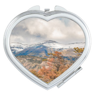 Forest and Snowy Mountains, Patagonia, Argentina Vanity Mirrors