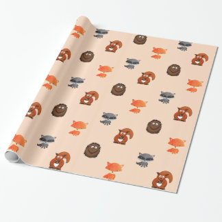 Forest Animals Woodland Creatures Gift Wrap