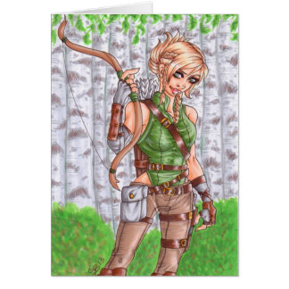Forest Archer Blank Greeting Card