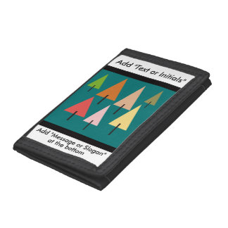 Forest Artistic Impression Trifold Wallets