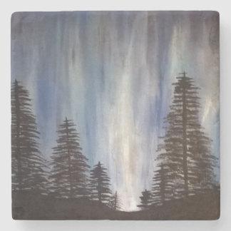 Forest Aurora Stone Coaster