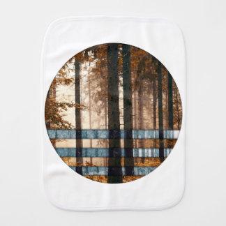 Forest autumn & winter burp cloth