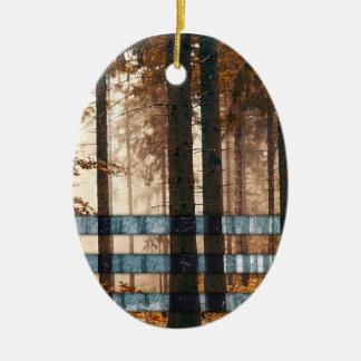 Forest autumn & winter ceramic ornament