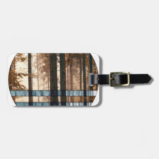 Forest autumn & winter luggage tag