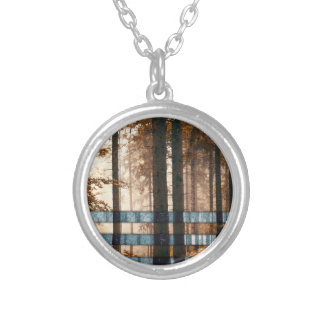 Forest autumn & winter silver plated necklace
