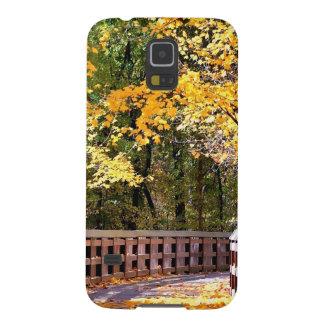 Forest Autumn Yellow Bridge Galaxy S5 Case