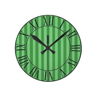 Forest Avenue Round Clock