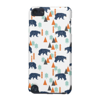 Forest Bear / Orange Mint Navy Blue /Andrea Lauren iPod Touch 5G Covers