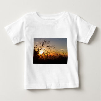 Forest Branches In The Sunset Light Baby T-Shirt